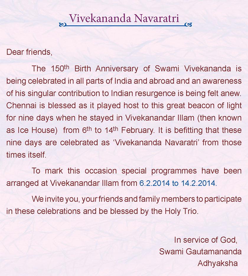 Vivekananda Navratri